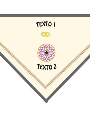 Pañuelo bordado estela I