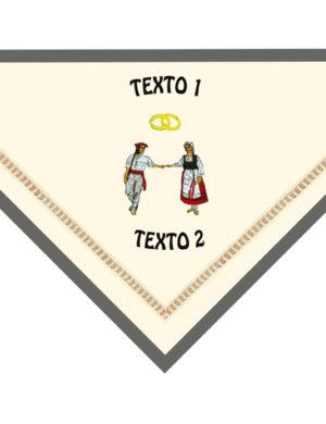 pañuelo bordado dantza II