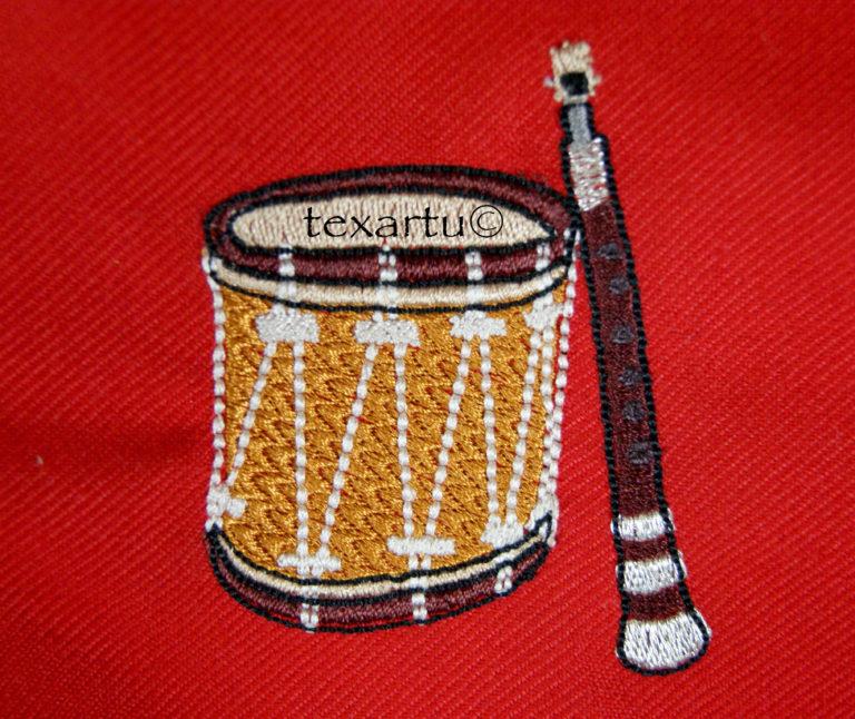gaita tambor bordado