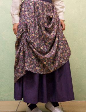falda flores morado