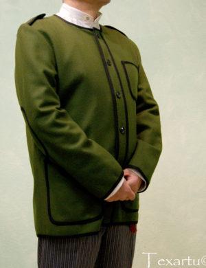 Kaiku chaqueta vasca verde