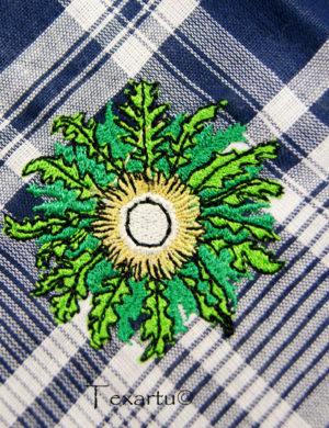 Pañuelo bordado eguzkilore